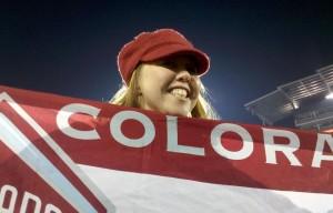The Mayor holds a Colorado Rapids Flag