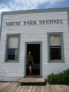 Heidi at South Park Sentinel at South Park City in Fairplay Colorado