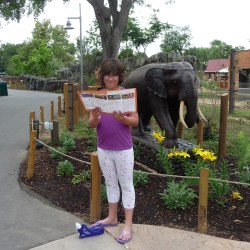 Lacy navigating Zoo June 2012