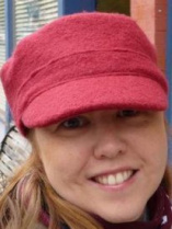 heidi in a red hat