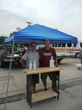 ryan and bob pose with table at Assemble