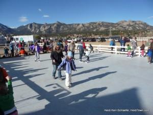 ice rink at Estes Park Winter Festival