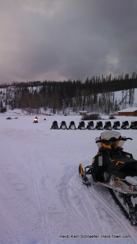snowmobiles coming in at the end of the day HeidiTown