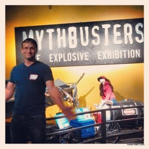 Ryan at the MythBusters exhibit at the Denver Museum of Nature & Science. HeidiTown.com
