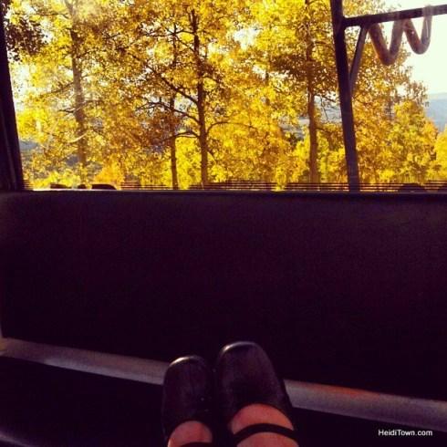 riding the gondola in Telluride