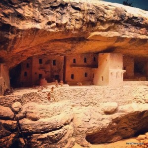 Replica of Balcony House at Mesa Verde at Living West at History Colorado. HeidiTown.com
