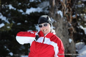 thumbs up after snowshoeing in Rocky Mountain National Park near Grand Lake. HeidiTown.com 2013