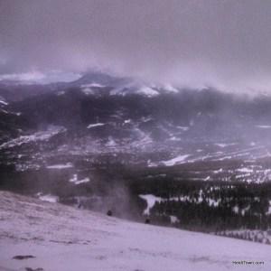 The top of Peak 6, the newest terrain at Breckenridge Ski Resort. Ullr Fest 2014. HeidiTown.com