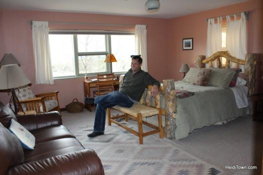 The Vista Room at Leroux Creek Inn & Vineyards in Hotchkiss, Colorado. HeidiTown