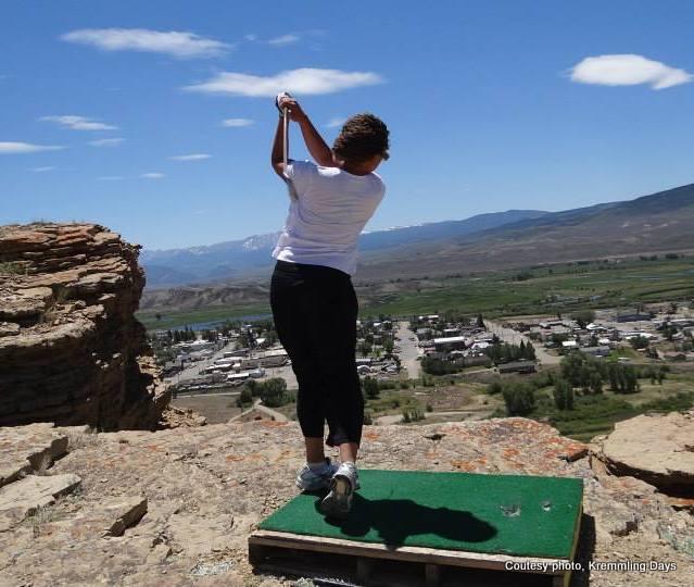 Golfing at Kremmling Days in Kremmling, Colorado. HeidiTwon.com