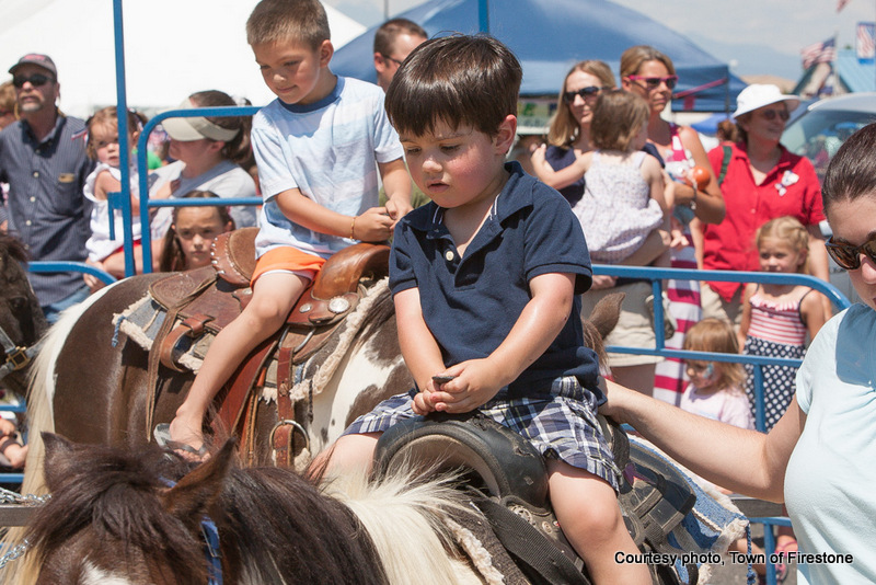 pony rides at 4th of July in Firestone, Colorado.