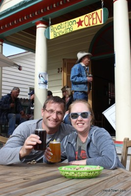 Enjoying the beer, sunshine & company at Revolution Brewery in Paonia, Colorado. HeidiTown.com