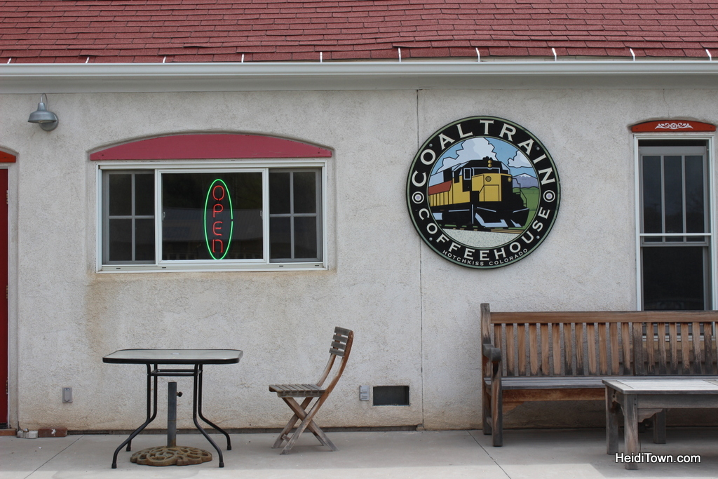 Coal Train Coffee Shop in Hotchkiss, Colorado. HeidiTown.com