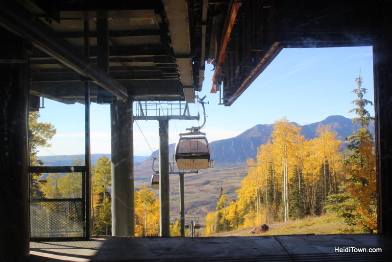 Riding the gondola in Telluride, Colorado in the fall. HeidiTown.com