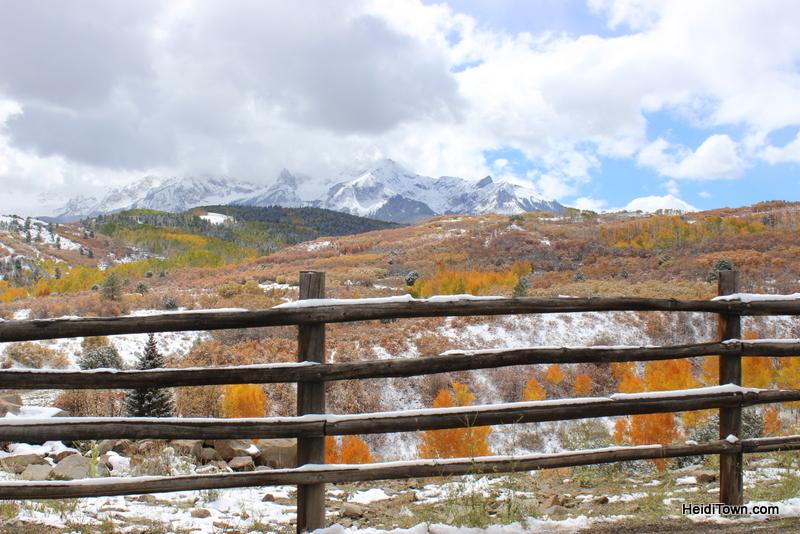 scenery between Ridgeway and Telluride Colorado. HeidiTown.com 2013