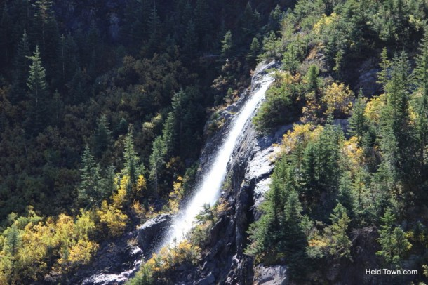 Waterfall on the way to the top of Imogene Pass with Alpine Scenic Tours out of Ouray, Colorado. HeidiTown.com