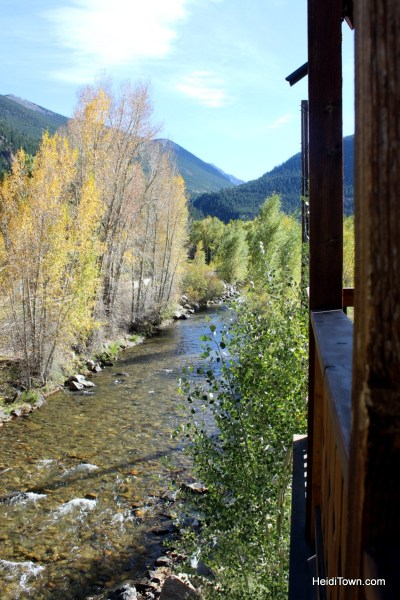 The view from our patio at Hotel Chateaux Chamonix in Georgetown, Colorado. HeidiTown.com