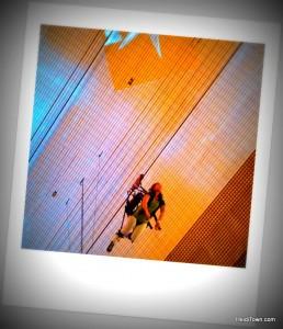 Slotzilla Zip Line in Vegas at Freemont Street. HeidiTown.com