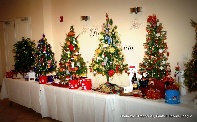 multiple trees at Tree for All, Foothills Service League. HeidiTown.com