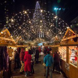 Denver Christkindl Market at night