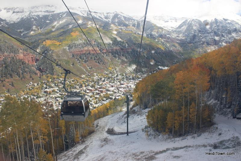 Telluride Ski Resort gondola ride to town. HeidiTown.com