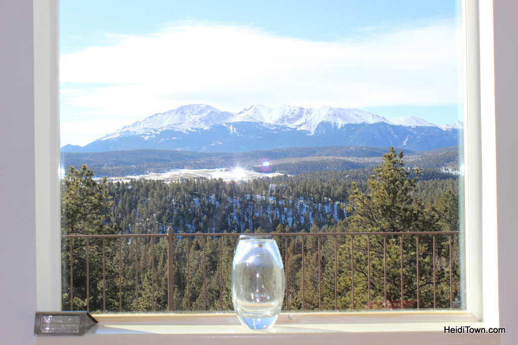The view from the front room of Pikes Peak Paradise Bed and Breakfast. HeidiTown.com