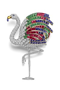 Title: Flamingo brooch worn by the Duchess of Windsor. Cartier Paris, special order, 1940.
