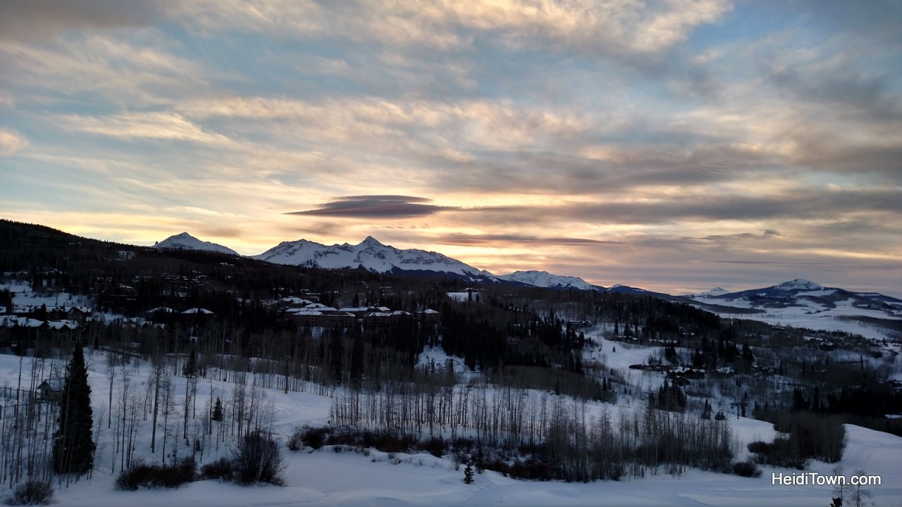 the view from our room at The Peaks Resort in Telluride. Things to do in Telluride when you're not skiing. HeidiTown.com