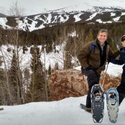 Breckenridge Nordic Center snowshoe outing. HeidiTown.com