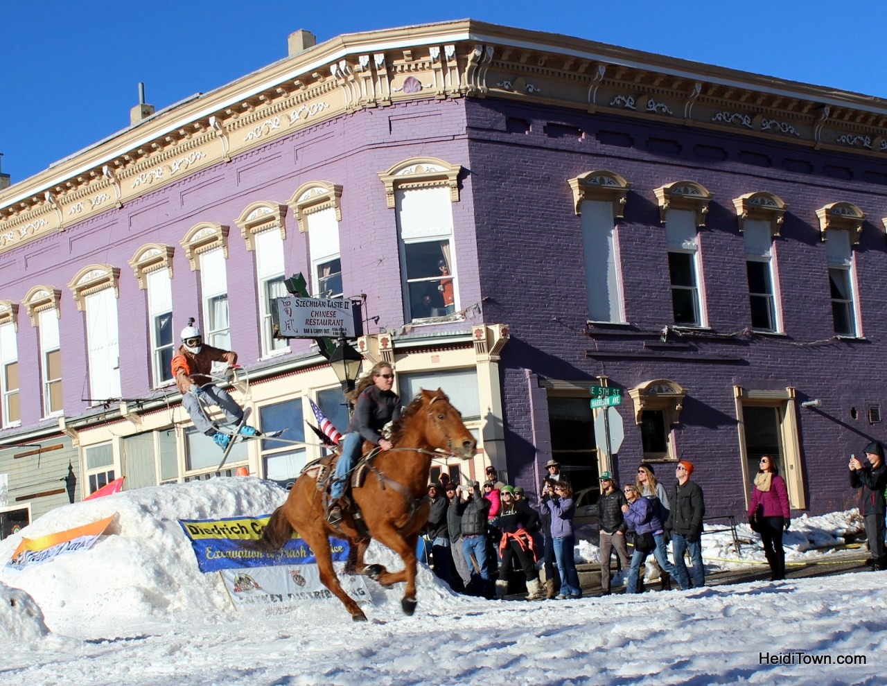 Skijoring Championships in Leadville, Colorado 2015. HeidiTown.com
