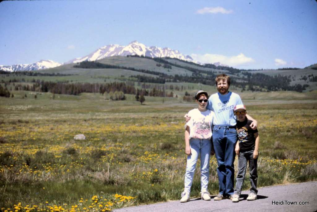 Me with my dad and brother in Yellowstone National Park. HeidiTown.com