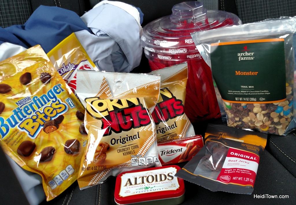Road trip snacks. Colorado travel, be prepared. HeidiTown.com