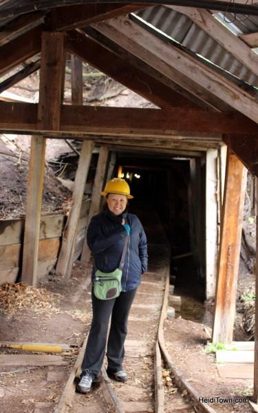 Heidi Kerr-Schlaefer, mayor of HeidiTown touring the Bachelor-Syracuse Mine in Ouray, Colorado as part of HeidiTown Fest. Photo by Ryan Schlaefer