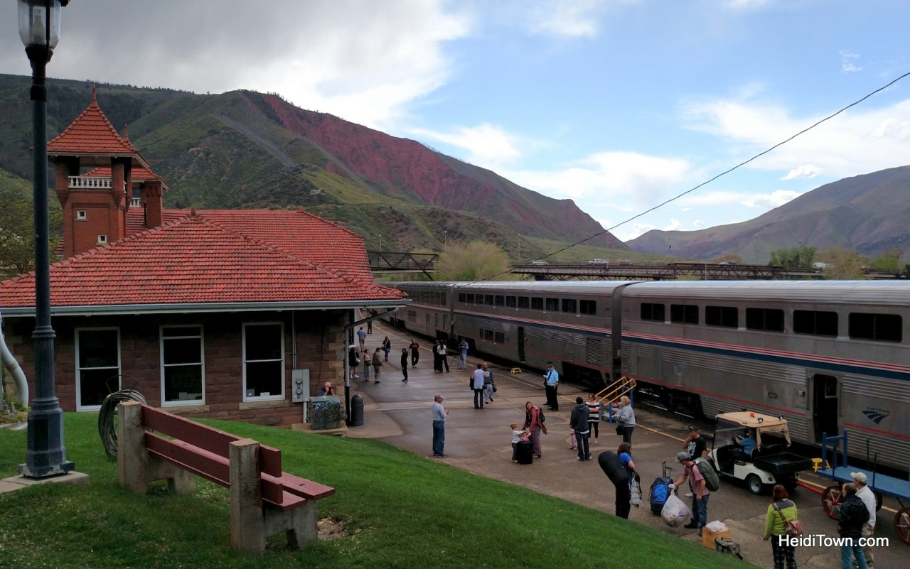 Amtrak has arrive at the Glenwood Springs train station. HeidiTown.com