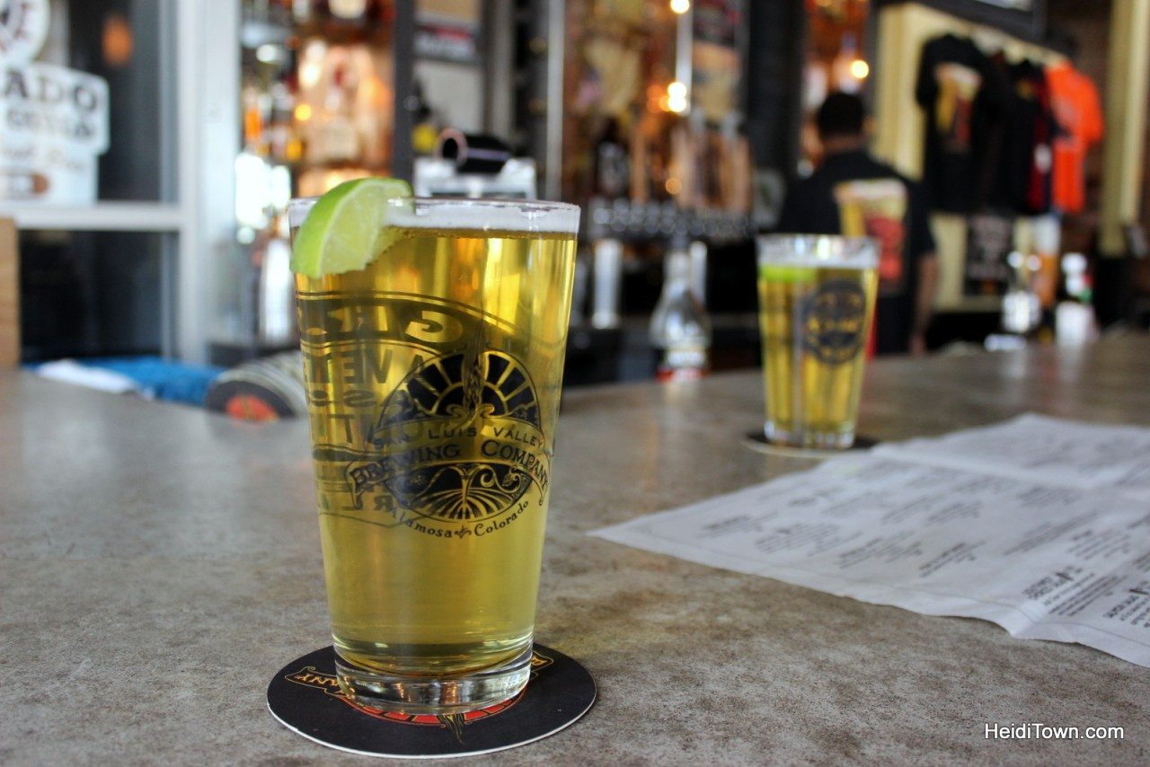Taking the long way home, #TravelTuesday. green chili beer at San Luis Valley Brewing Co. in Alamosa, CO. HeidiTown.com