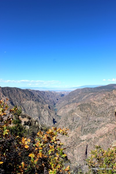 Black Canyon of the Gunnison National Park. River Shot. HeidiTown.com