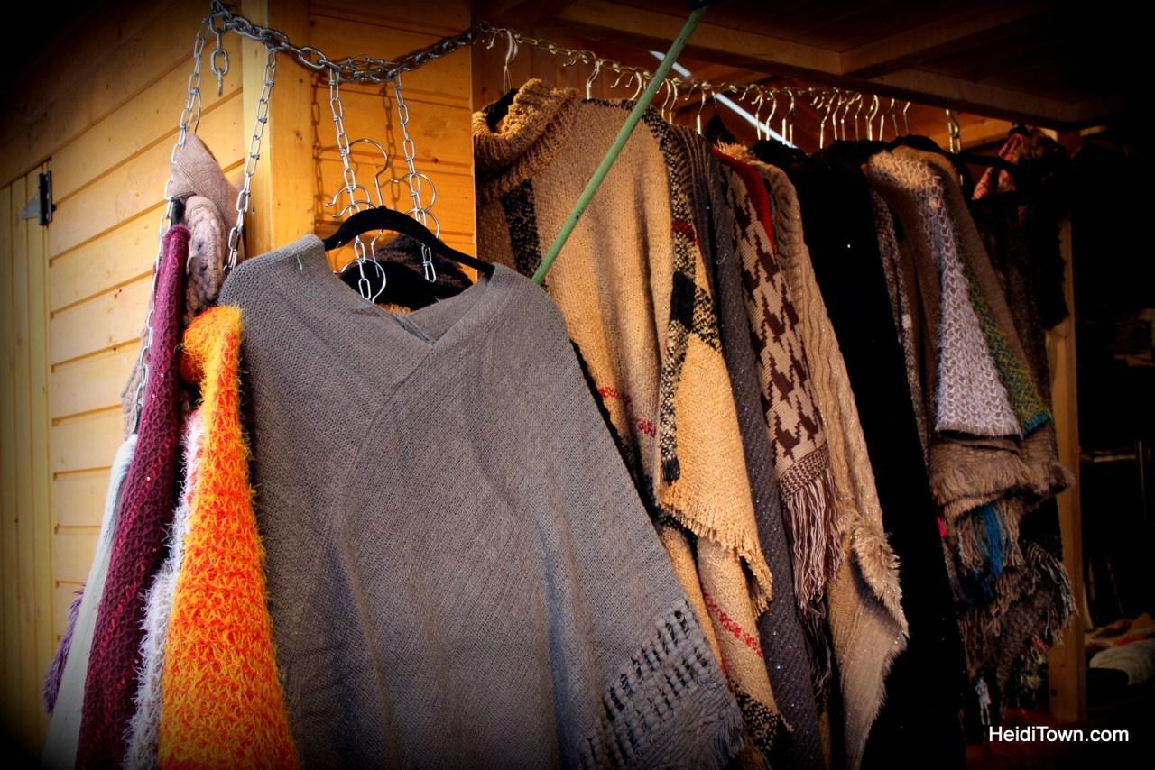 Beautiful sweaters at Denver Christkindl Market 2014. HeidiTown.com