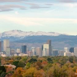 Denver skyline from the Holiday Inn in Stapleton. HeidiTown (1)