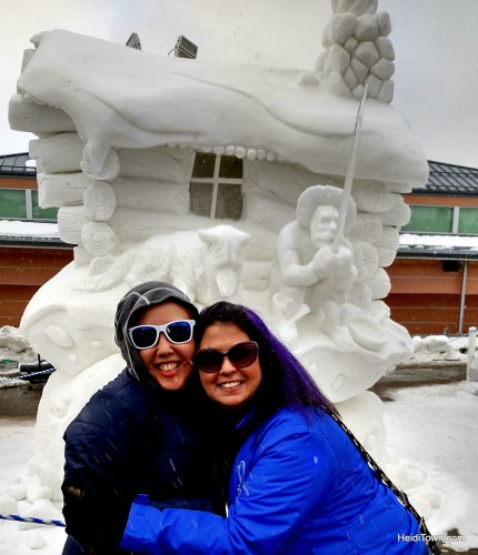 Top 10 HeidiTown Highlights of 2015. Posing with friend and arist Kerri Ertman at the Breckenridge Snow Sculpture Championships.