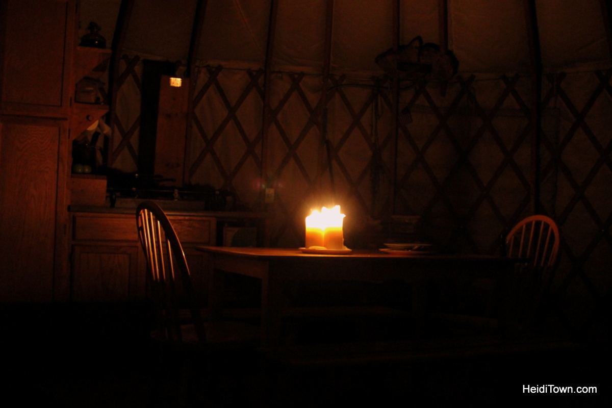 The yurt life is the life for me. Evening in the Sunset yurt by Never Summer Nordic. HeidiTown.com