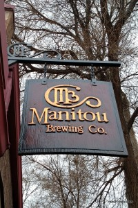 Unique lodging options near Colorado Springs. Manitou Brewing Co. sign. HeidiTown.com