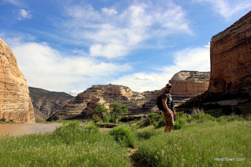 Easy hiking around Echo Park, Dinosaur National Monument. On the trail to the confluence. HeidiTown.com