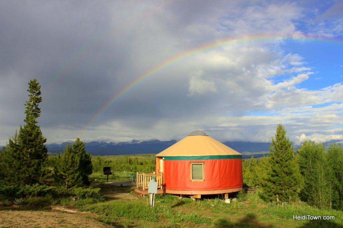 A stay at Yurt Village at Snow Mountain Ranch. yurt & rainbow HeidiTown.com