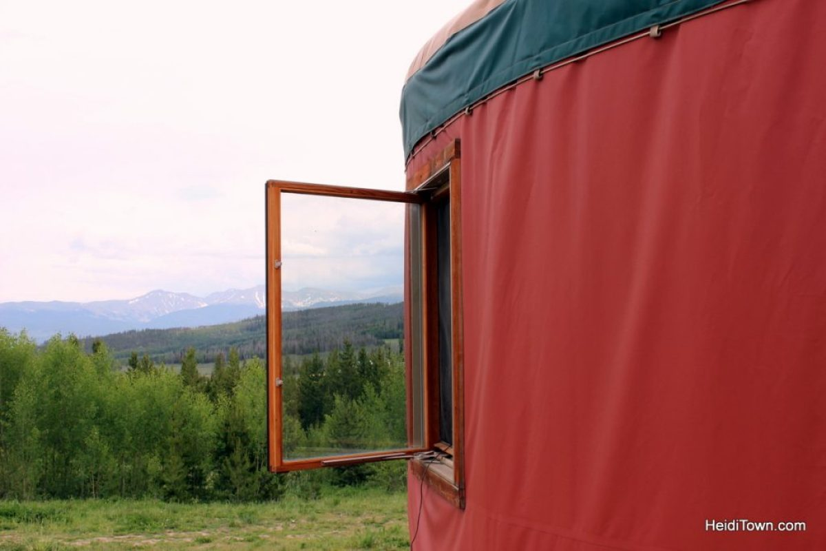A stay at Yurt Village at Snow Mountain Ranch. yurt window. HeidiTown.com