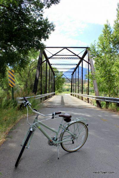 Bike farm tour in the North Fork Valley. Black Bridge shot. HeidiTown.com