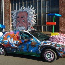 Featured Festival ArtoCade 2015 Trinidad Colorado. Einstein artcar. HeidiTown.com