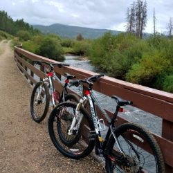 Making new traditions in the familar town of Winter Park. Riding mountain bikes. HeidiTown.com