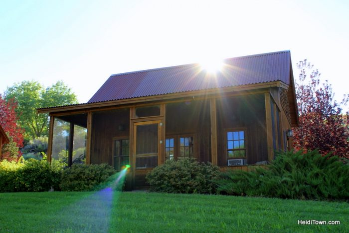 Where to Stay in Delta County, Colorado. Gunnison River Farms cabin.