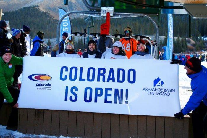 Colorado is Open, photo courtesy of Colorado Ski Country USA