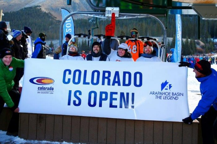 Colorado is Open, photo courtesy of Colorado Ski Country USA